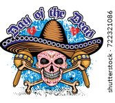 holy death  day of the dead ... | Shutterstock .eps vector #722321086