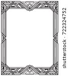rectangular black frame  art... | Shutterstock .eps vector #722324752