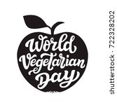 world vegetarian day.... | Shutterstock . vector #722328202