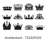 silhouette of diadems and... | Shutterstock .eps vector #722329102