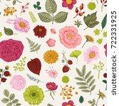 seamless floral pattern. summer ... | Shutterstock .eps vector #722331925
