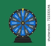 realistic spinning fortune... | Shutterstock .eps vector #722333146