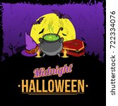 all hallows night holiday... | Shutterstock .eps vector #722334076