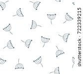 inflorescence dill. vector... | Shutterstock .eps vector #722339215