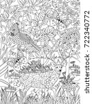 Nature Coloring Book Page