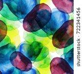 watercolor circles seamless... | Shutterstock . vector #722341456
