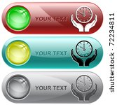 clock in hands. vector internet ... | Shutterstock .eps vector #72234811