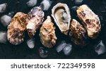 Oyster Shells On Dark...