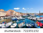 view on colorful harbour in... | Shutterstock . vector #722351152