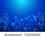 vector abstract futuristic... | Shutterstock .eps vector #722353342