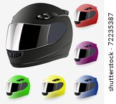 6 different colour motorcycle helmet