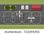 training aerodrome of flying... | Shutterstock .eps vector #722355352