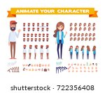front  side  back  3 4 view... | Shutterstock .eps vector #722356408