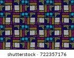 seamless african pattern.... | Shutterstock .eps vector #722357176