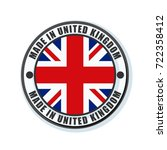 made in united kingdom of great ... | Shutterstock .eps vector #722358412