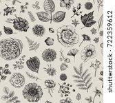 seamless floral pattern. summer ... | Shutterstock .eps vector #722359612