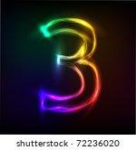neon numbers | Shutterstock .eps vector #72236020