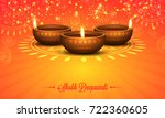 shubh deepawali shiny orange... | Shutterstock .eps vector #722360605
