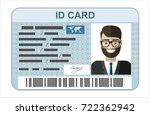 id card. flat design style. | Shutterstock . vector #722362942