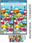 winter traffic jam picture... | Shutterstock .eps vector #722366455