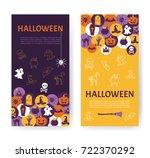halloween banner. halloween... | Shutterstock .eps vector #722370292