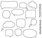 speech bubbles | Shutterstock .eps vector #722370532