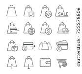 bag icon designed for trading.... | Shutterstock .eps vector #722378806
