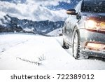 winter car and road of snow  | Shutterstock . vector #722389012