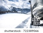 winter car and road of snow  | Shutterstock . vector #722389066