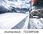 winter car and road of snow  | Shutterstock . vector #722389108