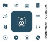 set of 13 editable audio icons. ...