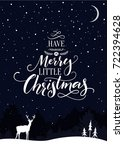 christmas card with text have... | Shutterstock .eps vector #722394628