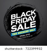 black friday sale banner layout | Shutterstock .eps vector #722399932