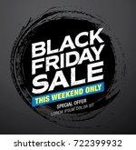 black friday sale banner layout | Shutterstock .eps vector #722399932