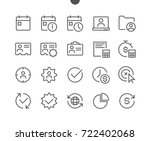 business ui pixel perfect well... | Shutterstock .eps vector #722402068