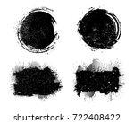 vector grunge banners.grunge... | Shutterstock .eps vector #722408422