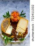 ukrainian artisanal cheeses...   Shutterstock . vector #722411332