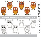 the educational kid matching... | Shutterstock .eps vector #722415892
