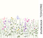 meadow flowers . seamless... | Shutterstock .eps vector #722415982
