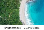 sea aerial view top view... | Shutterstock . vector #722419588