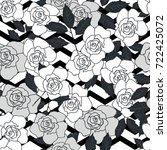seamless cute flower vector... | Shutterstock .eps vector #722425072