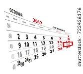 22 october highlighted on... | Shutterstock .eps vector #722426176