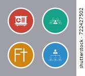 business icons set | Shutterstock .eps vector #722427502