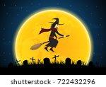 halloween festival and... | Shutterstock .eps vector #722432296