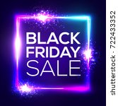 black friday sale background.... | Shutterstock .eps vector #722433352