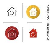 smart house icon. flat design ... | Shutterstock .eps vector #722435692