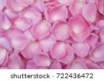 Stock photo background of pink rose petals top view 722436472