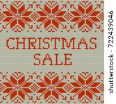 knitted christmas sale template ... | Shutterstock .eps vector #722439046