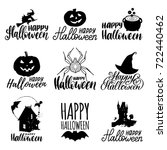 vector set of hand lettering... | Shutterstock .eps vector #722440462