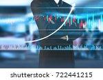 businessman plan graph growth... | Shutterstock . vector #722441215